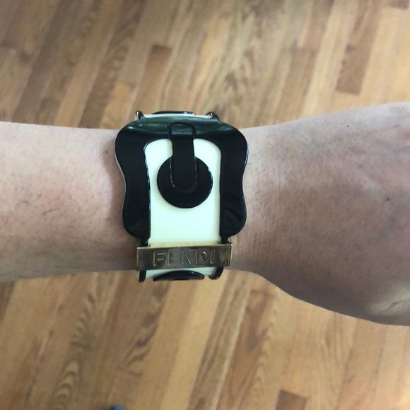 7232b412fe8 Fendi resin cuff bracelet